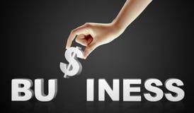 Commercio di parola e della mano - concetto di affari Immagini Stock
