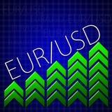 Commercio di progettazione grafica riguardante illustrando crescita di valuta Immagini Stock