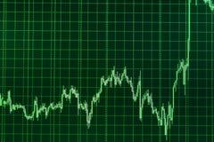 Commercio di riserva in tensione Fondo blu con il grafico di riserva Concetto di analisi fondamentale e tecnica immagini stock libere da diritti