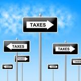 Commercio di Taxes Sign Shows Corporation e corporativo Fotografia Stock Libera da Diritti