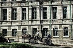 Commercio di trasporto in Quebec Fotografie Stock Libere da Diritti