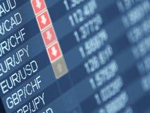 Commercio di valuta Immagini Stock