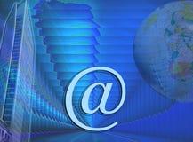 Commercio e disegno blu del Internet Fotografie Stock