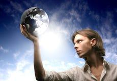 Commercio e globo Immagine Stock