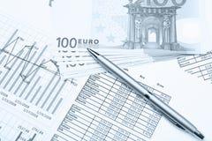 Commercio ed ancora vita finanziaria Fotografia Stock Libera da Diritti