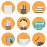 Commercio ed insieme dell'icona dell'ufficio Fotografia Stock