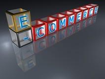 Commercio elettronico - 3D Fotografie Stock Libere da Diritti