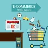 Commercio elettronico Affare online Fotografia Stock