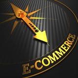 Commercio elettronico. Cenni storici di affari. illustrazione vettoriale