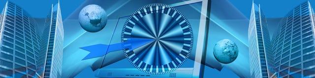 Commercio elettronico ed obiettivi in tutto il mondo di affari Fotografia Stock