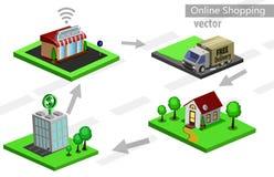 Commercio elettronico mobile di acquisto Fotografie Stock
