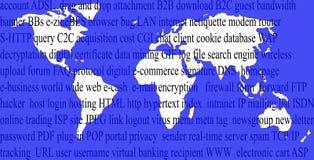 Commercio elettronico nel mondo Fotografie Stock Libere da Diritti