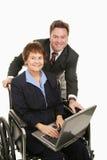 Commercio elettronico per gli handicappati Fotografia Stock Libera da Diritti