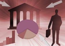 Commercio, estratto di finanze Immagini Stock Libere da Diritti