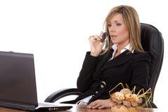 Commercio execuitive sul telefono Fotografia Stock