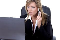 Commercio execuitive sul telefono Immagine Stock Libera da Diritti