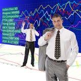 Commercio finanziario Immagini Stock