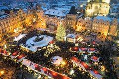 Commercio giusto a Praga. Natale Immagine Stock