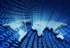 Commercio globale del Internet Fotografia Stock Libera da Diritti