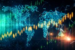 Commercio globale ed investire concetto fotografie stock