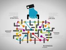 Commercio Infographics Immagine Stock