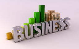 Commercio: informazioni e soldi Fotografia Stock Libera da Diritti