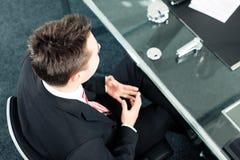 Commercio - intervista di job immagine stock