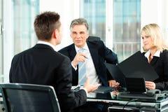 Commercio - intervista di job Fotografia Stock