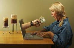 Commercio in linea Fotografia Stock Libera da Diritti