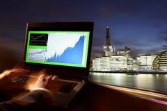 Commercio a Londra, Regno Unito Immagine Stock Libera da Diritti