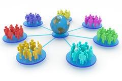 Commercio o rete sociale. Concetto. Fotografia Stock