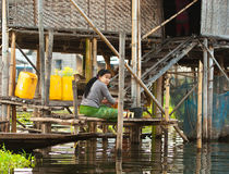 Commercio per la gente della Birmania Fotografie Stock