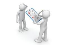 Commercio - quiz della via illustrazione di stock