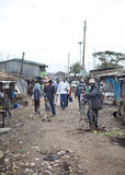 Commercio quotidiano in Kibera Kenia Fotografia Stock