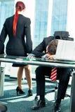 Commercio - sforzo nell'ufficio Immagini Stock