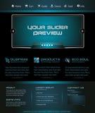 Commercio Webtemplate o grafico del blog di Wordpress illustrazione vettoriale