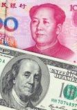 Commercio yuan di PChina Fotografia Stock Libera da Diritti