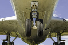 Commerical Airplane Underneath View Stock Photos