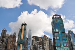 Commerical Buildings in Hong Kong. Western district Royalty Free Stock Image