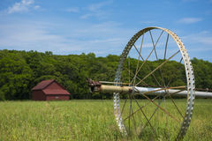 Commerical Farm Irrigation System on Wheels Stock Photography