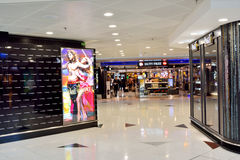 Commerical at Hongkong Airport interior Stock Photography