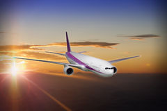 Commerical jet airliner Stock Images