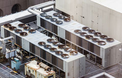 Commericial Heating and Cooling System. A commercial heating and cooling system for large buildings Stock Photos