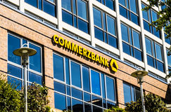 Commerzbank AG, actividades bancarias globales alemanas Imágenes de archivo libres de regalías