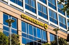 Commerzbank AG, operação bancária global alemão Imagens de Stock Royalty Free