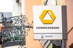 Commerzbank assina imagem de stock