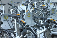 Commerzbank bicycle Stock Photos