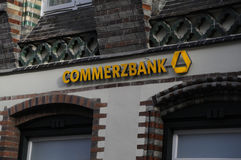 COMMERZBANK IN FLENSBURG royalty free stock photo