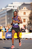 Commerzbank Frankfurt Marathon 2010. FRANKFURT - OCTOBER 31 - Male african runner at Commerzbank Franfkurt Marathon.  October, the 31st, 2010 in Frankfurt Stock Images