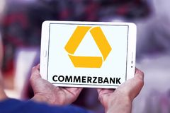Commerzbank logo Fotografia Stock